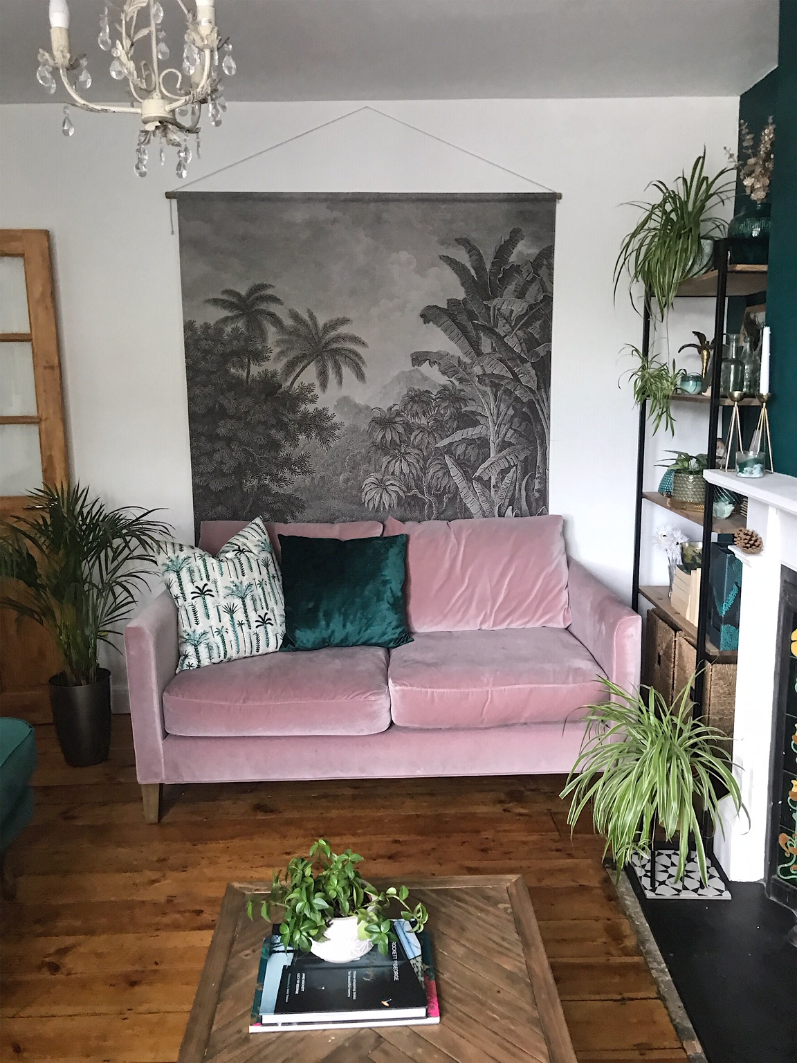 Our new pink sofa -  Orchid Izzy  - right at home