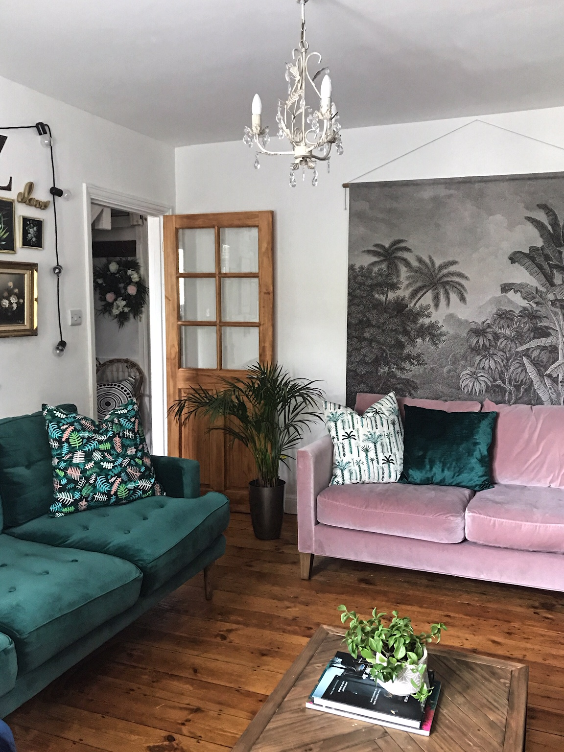 The perfect match, the  Jade Mabel sofa  and the  Orchid Izzy  with Lucy Tiffney cushions