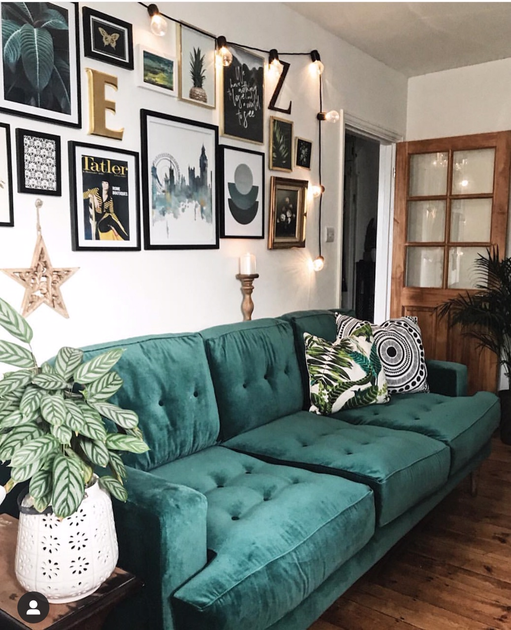 Green, gold and wooden tones looking splendid together - sofa from  sofa.com