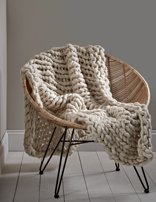 Cox & Cox Knitted Throw