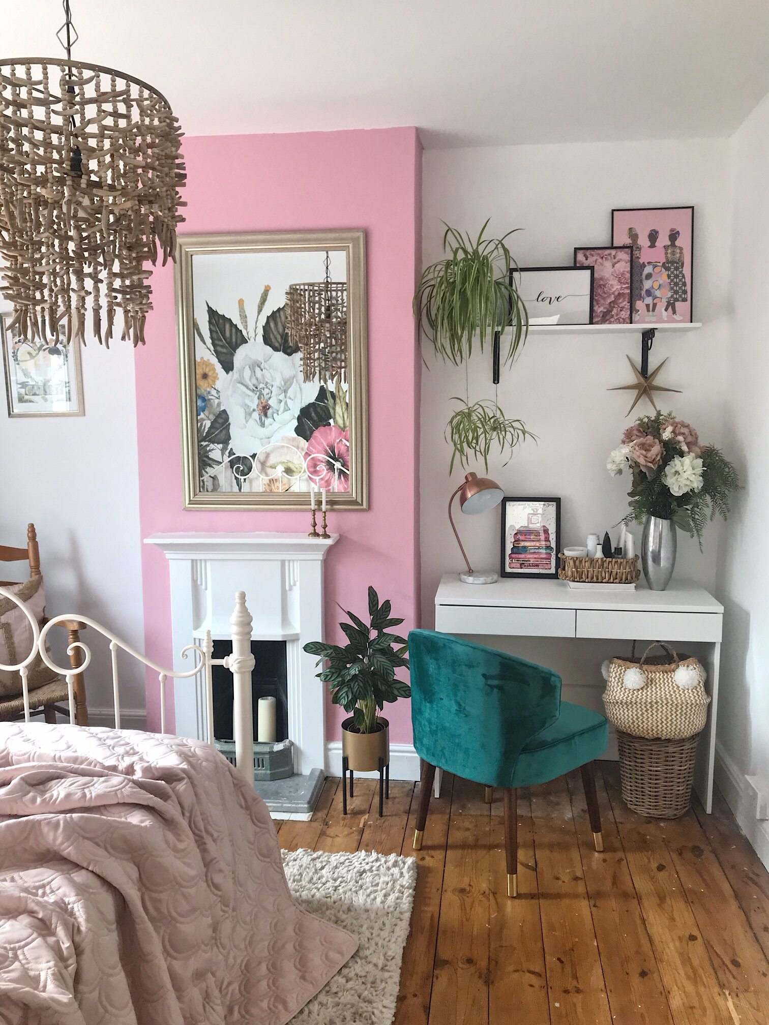 The room feels fresher and brighter thanks to the  Valspar  paint