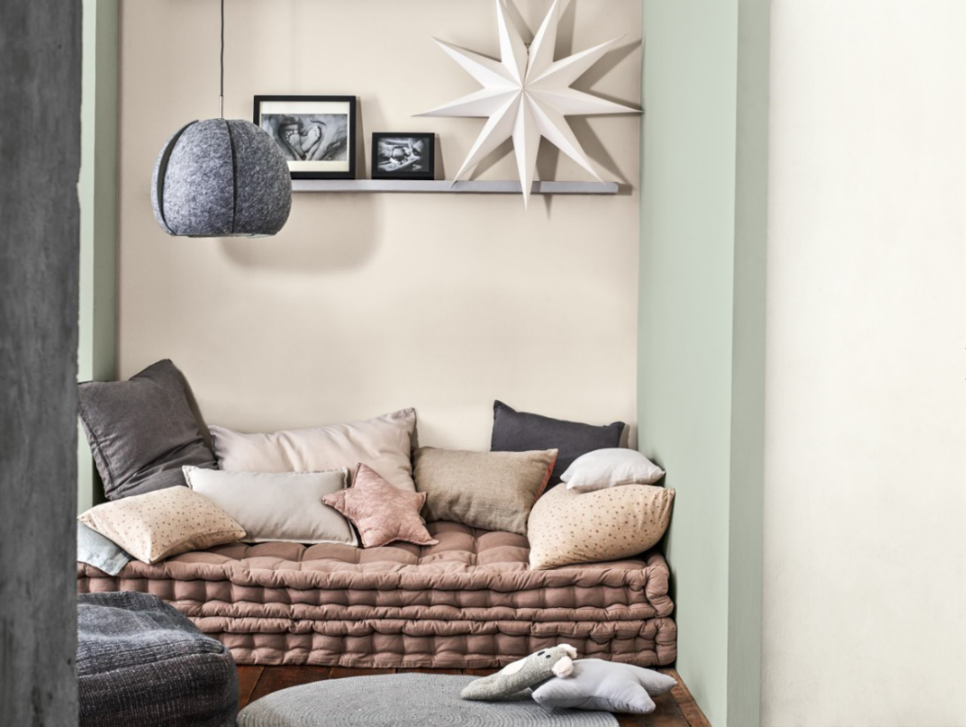 A cosy and calming spot using the meaning palette.