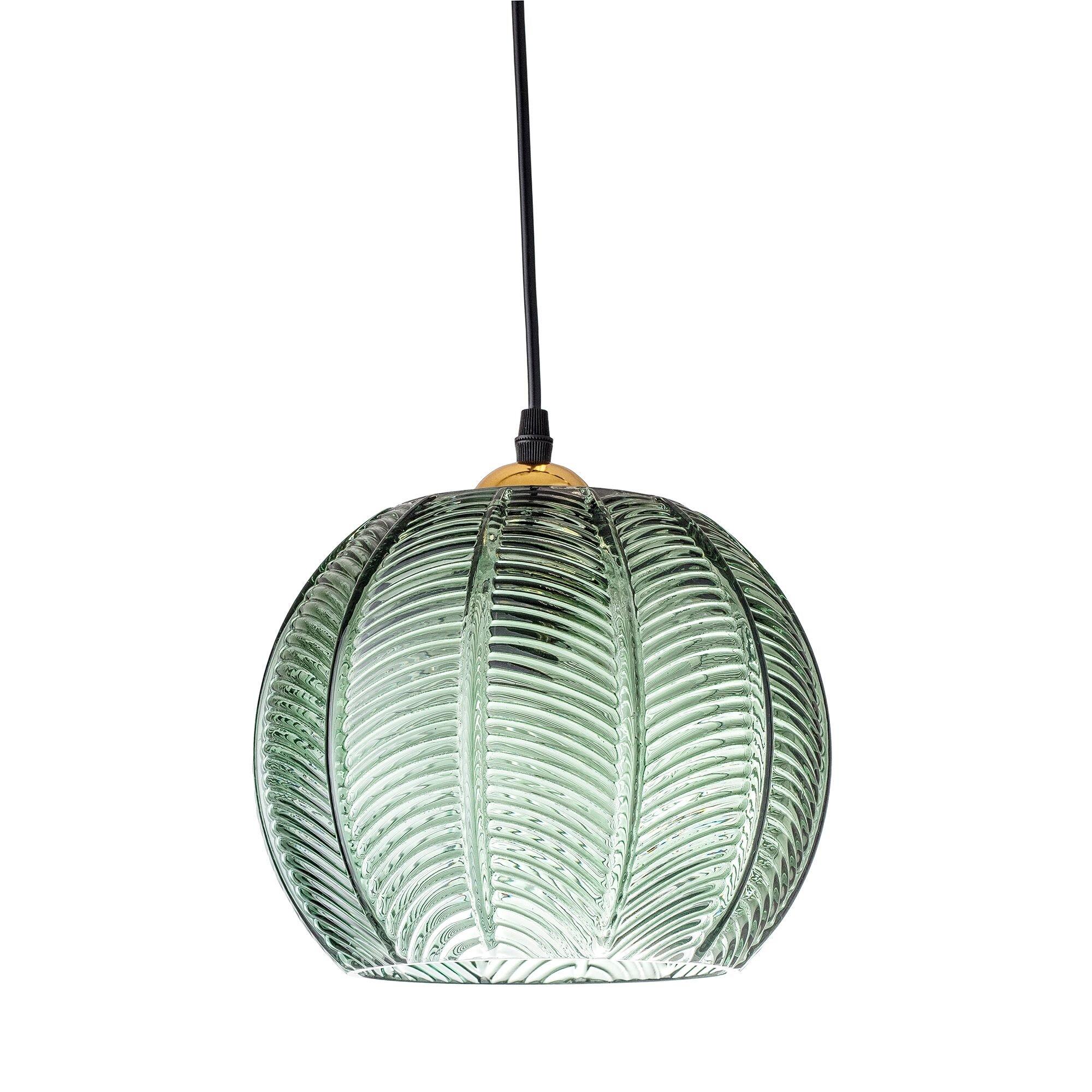 Cult Furniture Retro Palm Leaf Glass Pendant
