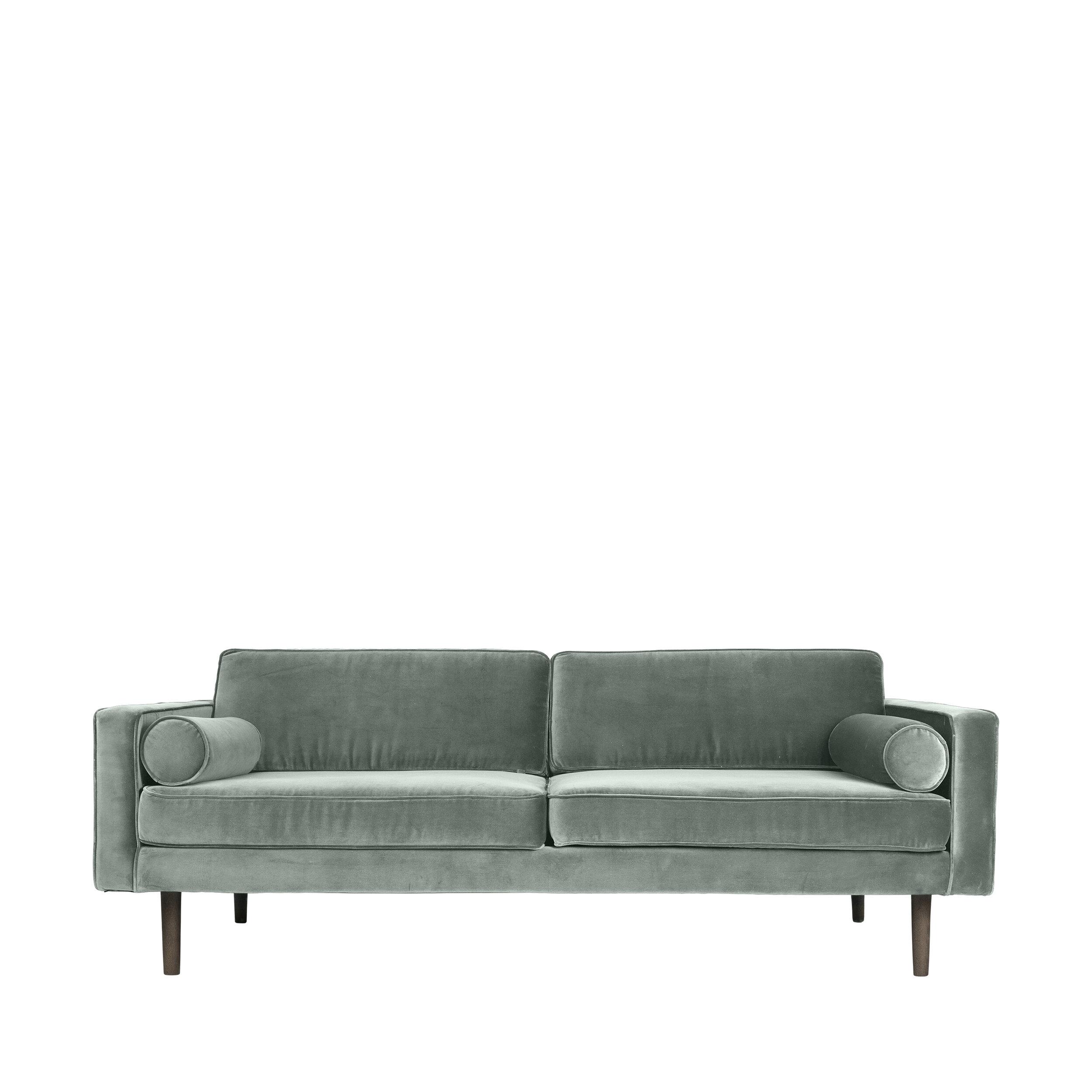 Mink Interiors - Velvet Sofa in Smoke Green