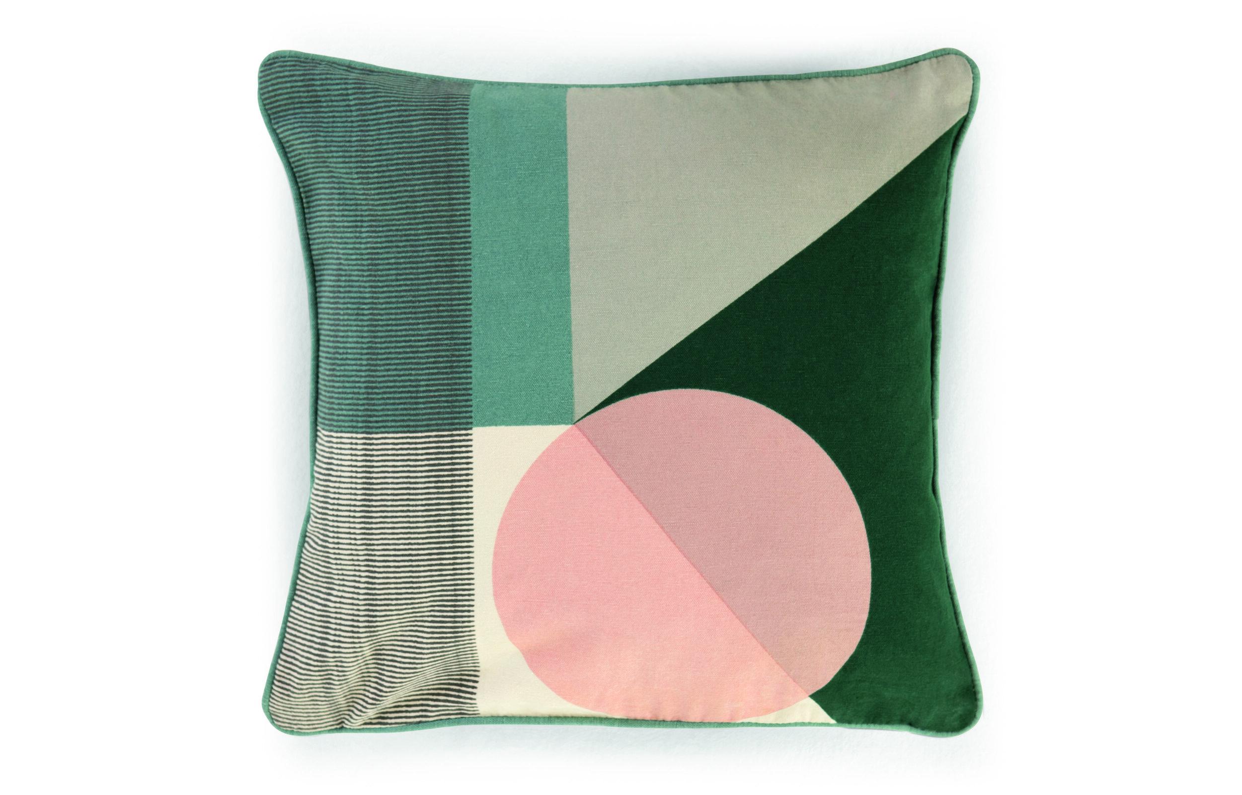 Made.com - Axle Printed Circle Cushion