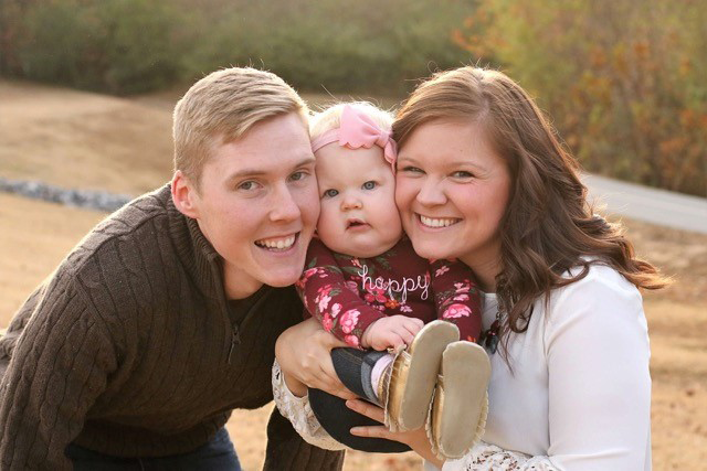 Michael and Tara Dykstra with daughter