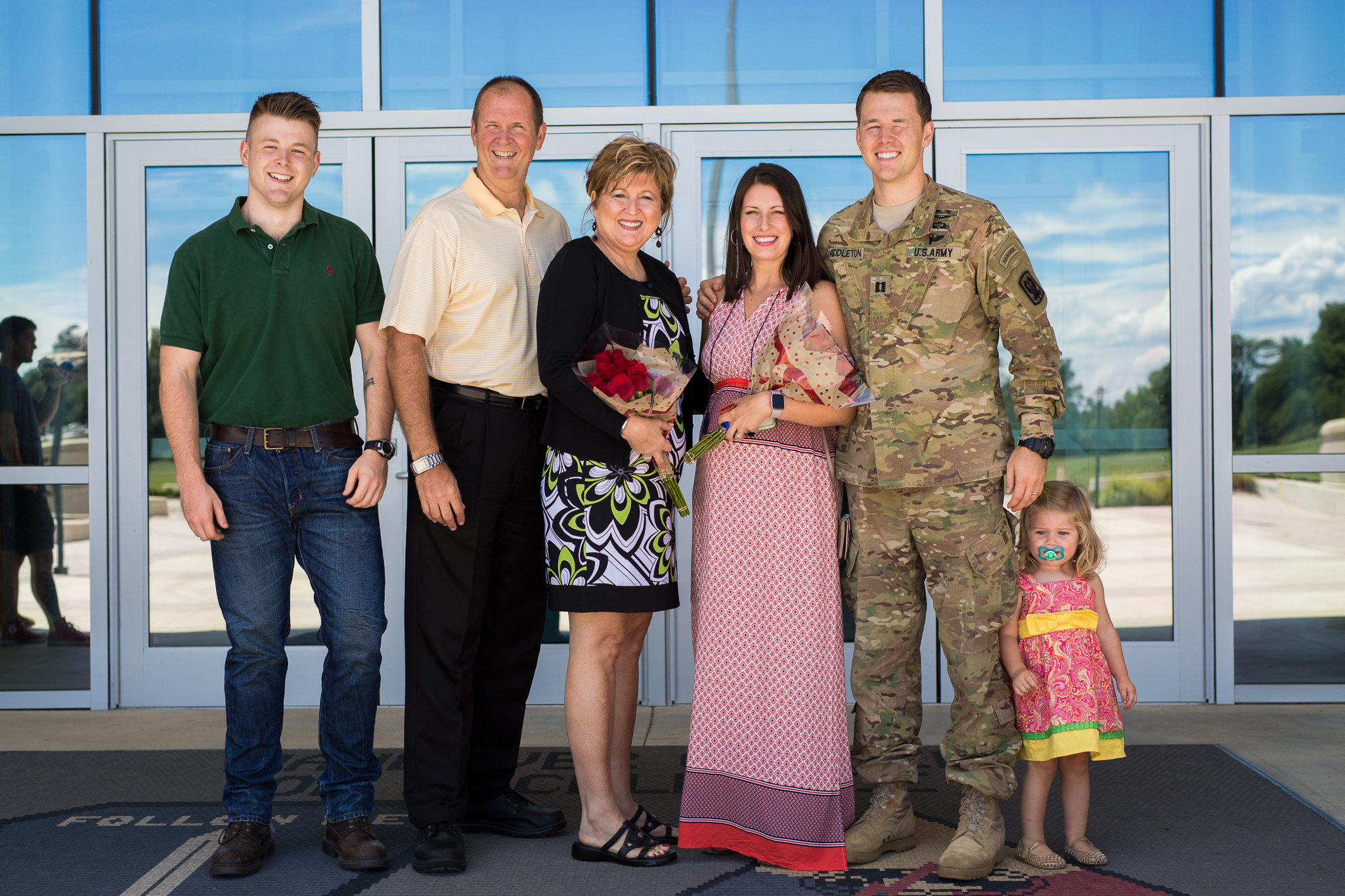 Justin Middleton (second on right) with family