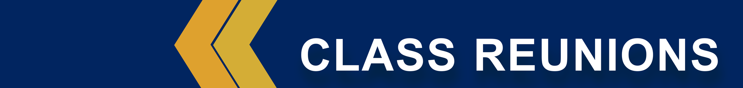 Class Reunion page banner.
