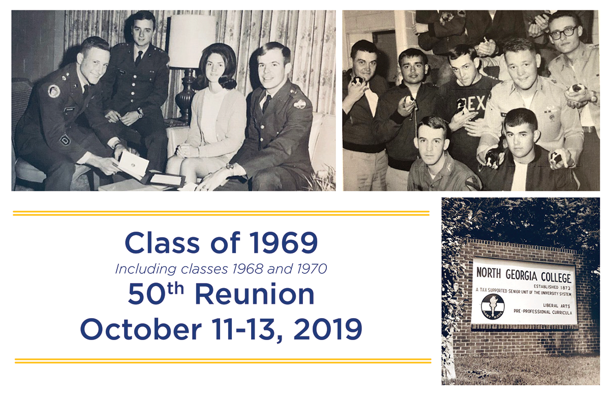 Class of 1969, including classes 1968 and 1970, 50th Reunion. October 11-13, 2019