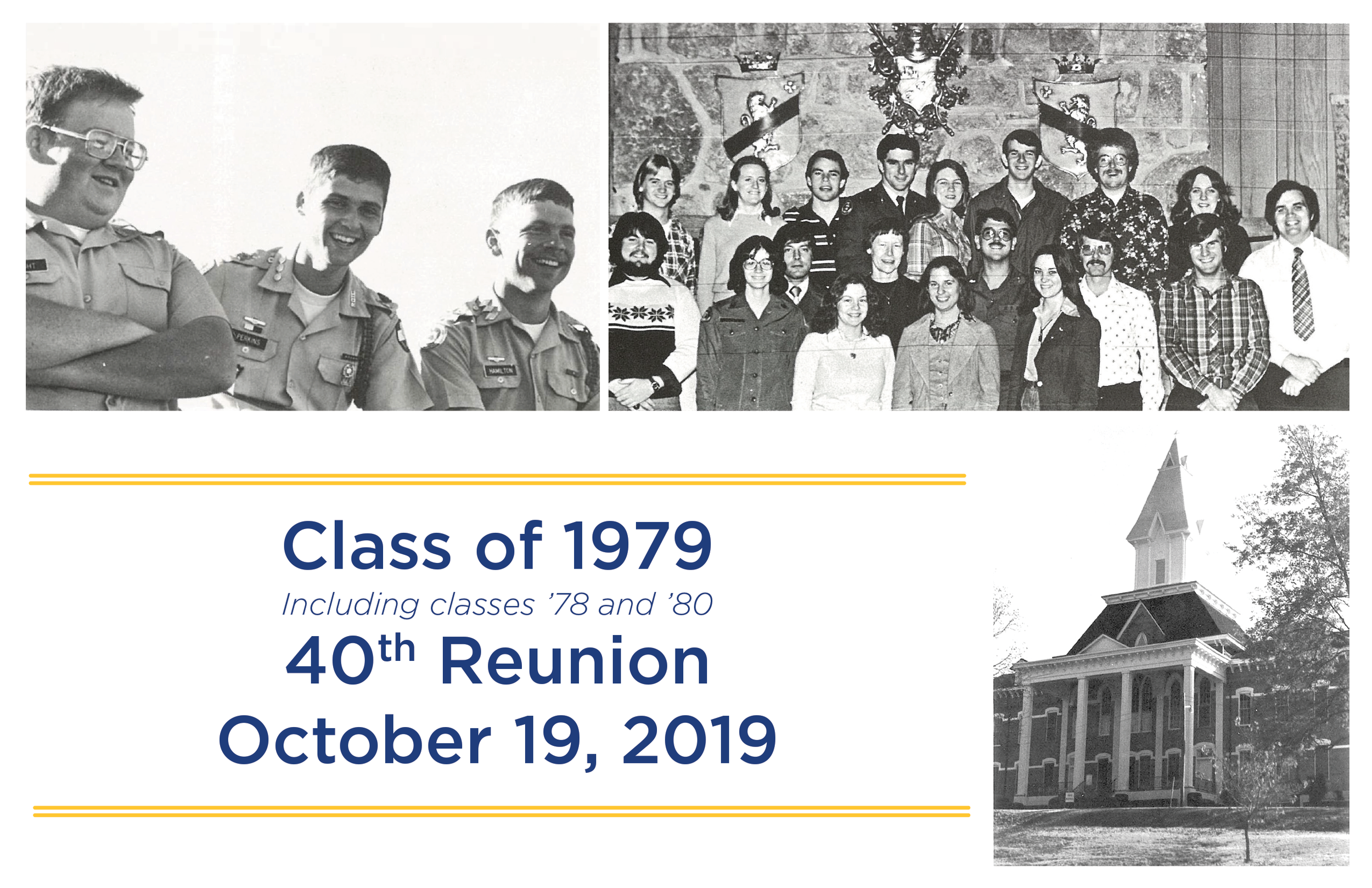 Class of 1979 40th Reunion, including class 1978 and 1980. October 19, 2019