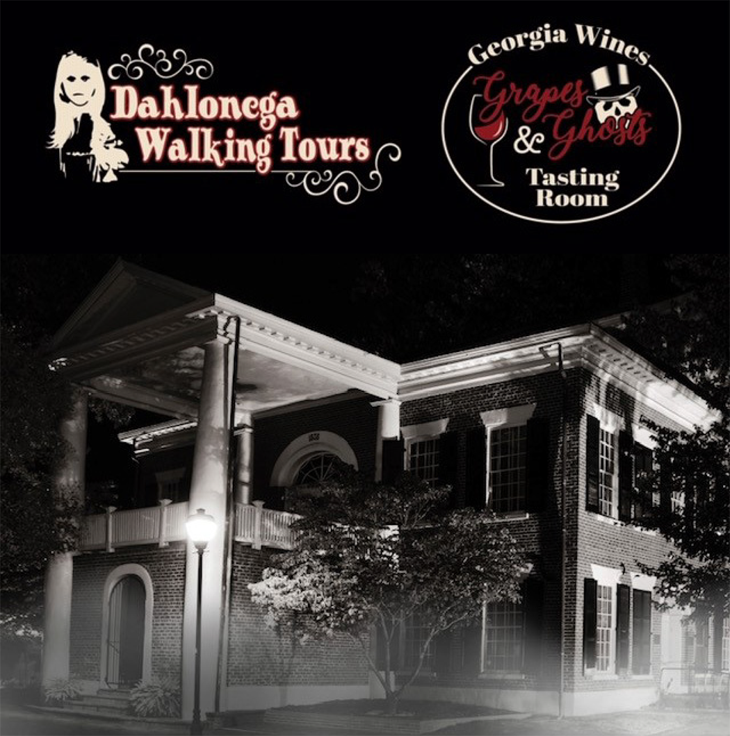 "Dahlonega Walking Tours presents ""Grapes & Ghosts"""