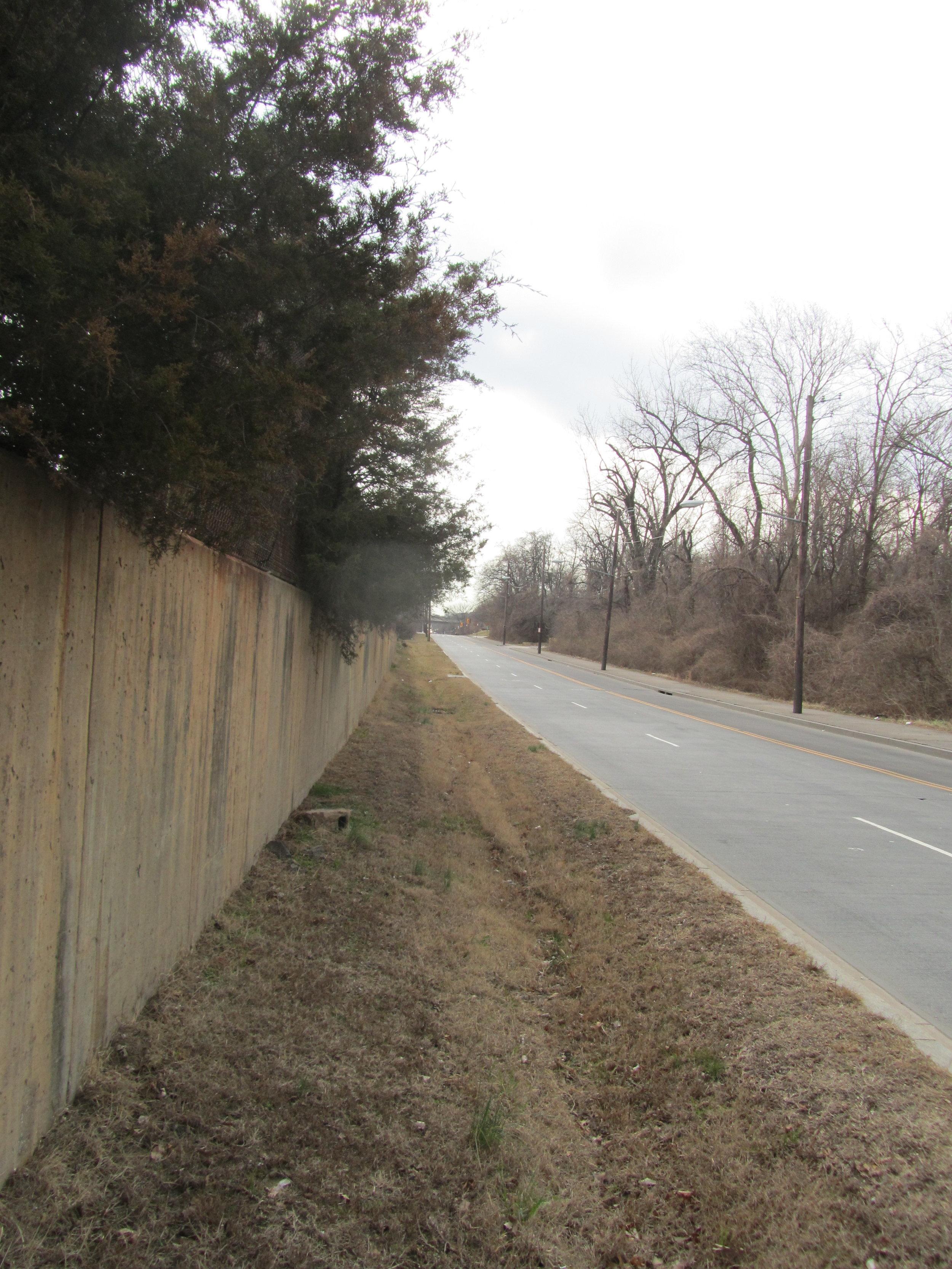 WMATA retaining wall