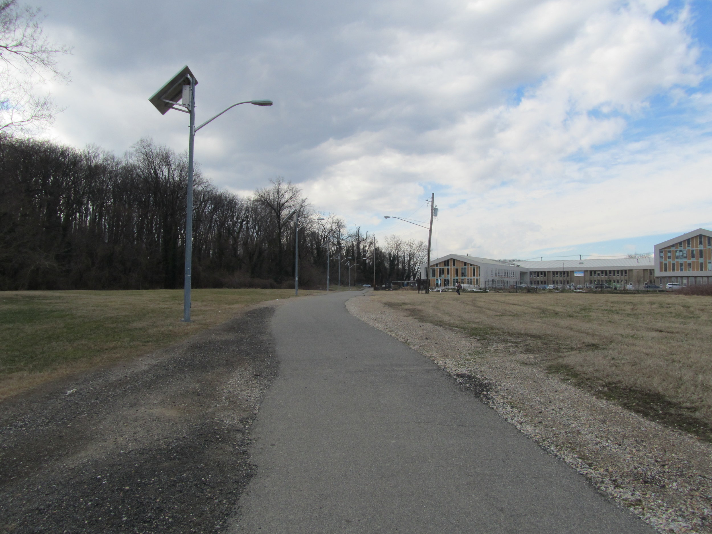 Trail between 1st Pl, NE and Gallatin St, NE