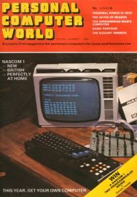 - First edition of Personal Computer World with the Nascom 1 on the cover