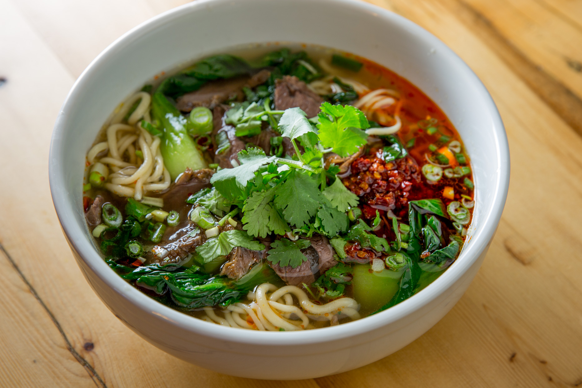 Beef Noodle Soup with Greens