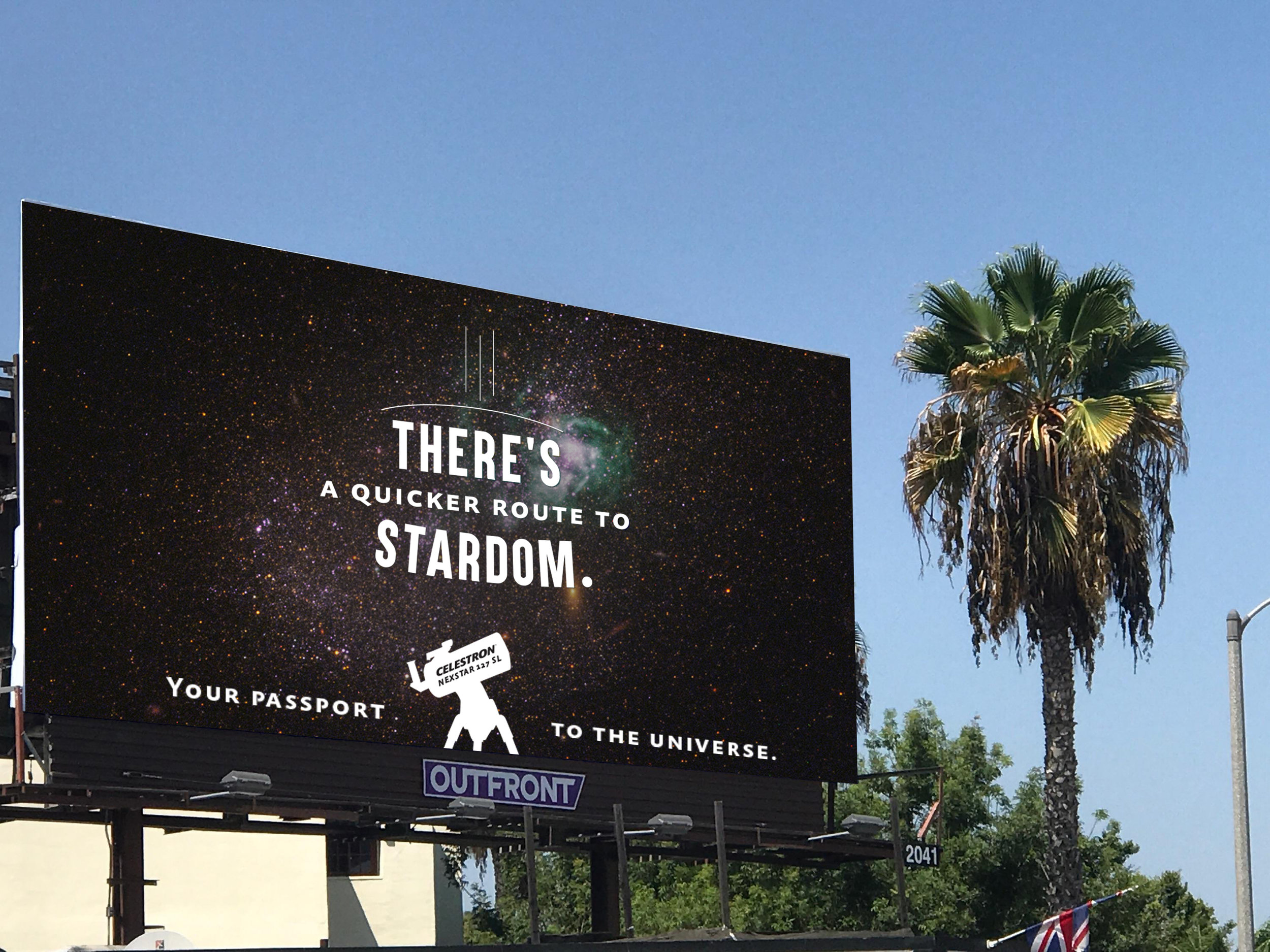 Billboard in Hollywood, California