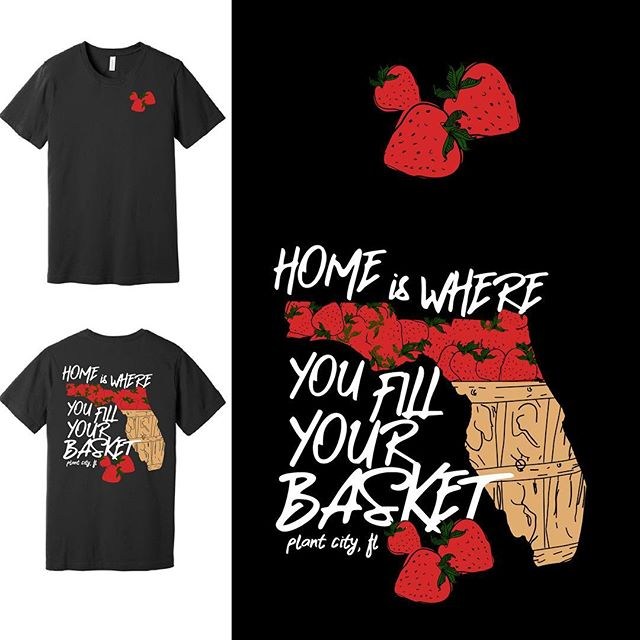 WHERE IS HOME TO YOU?  Time get your strawberry season swag with one of our latest berry designs.  PURCHASE ONLINE AT: www.levelsevengraphics.com/strawberryapparel (CLICK ON THE LINK IN OUR DESCRIPTION) * PLEASE SHARE THIS POST WITH YOUR FRIENDS AND FAMILY.  #plantcity #plantcityfl #strawberry #strawberryfestival #strawberrytshirt #flstrawberryfestival #flstrawberryfestival2019 @igersplantcity