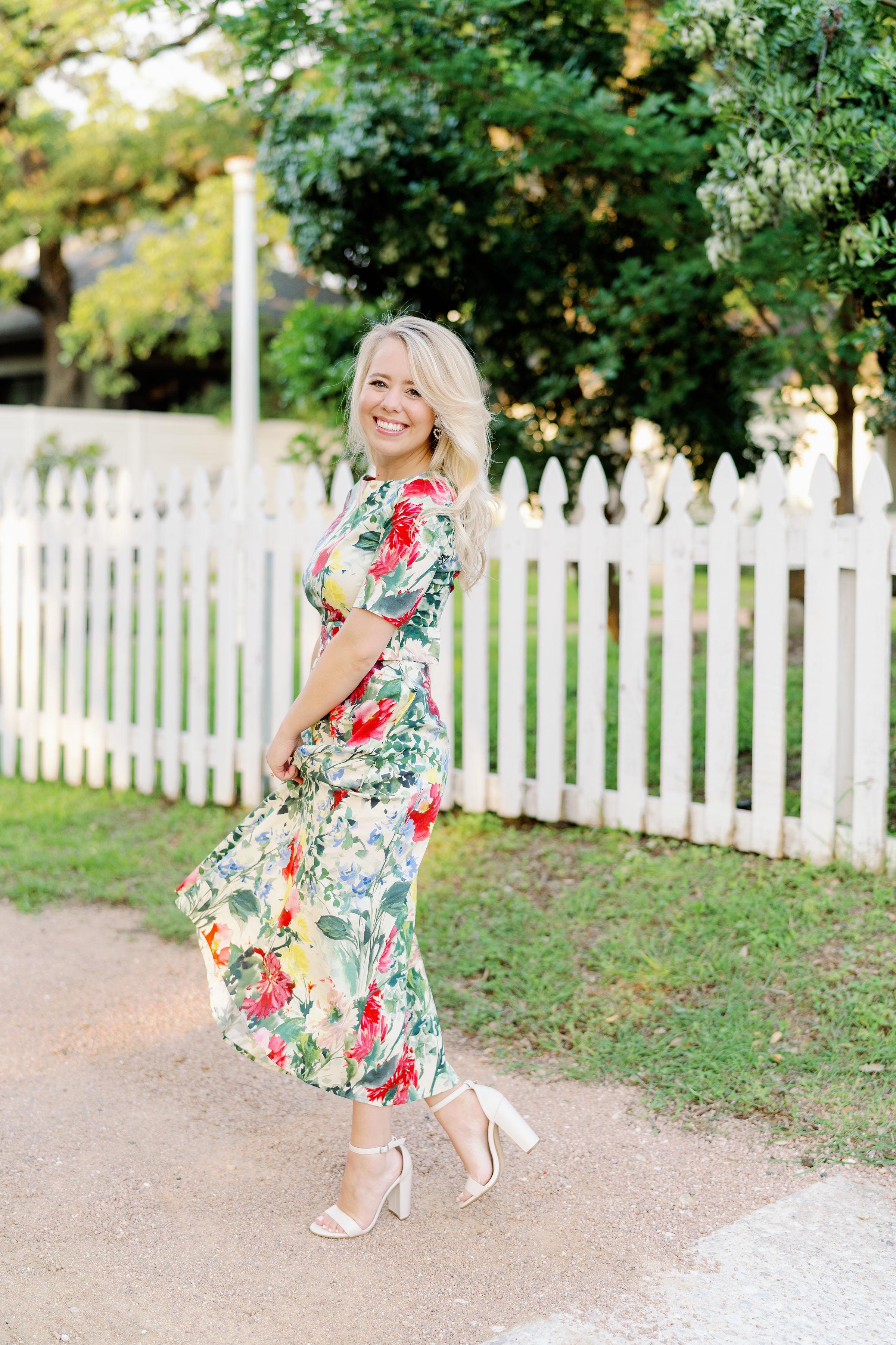 floral dress - Zara