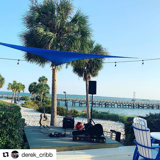 #Repost @derek_cribb with @get_repost ・・・ Gonna play some tunes at @charlestonharborresort today from 6 to 9!! Come on out! #mtpleasant #livemusic #earformusic #takamine