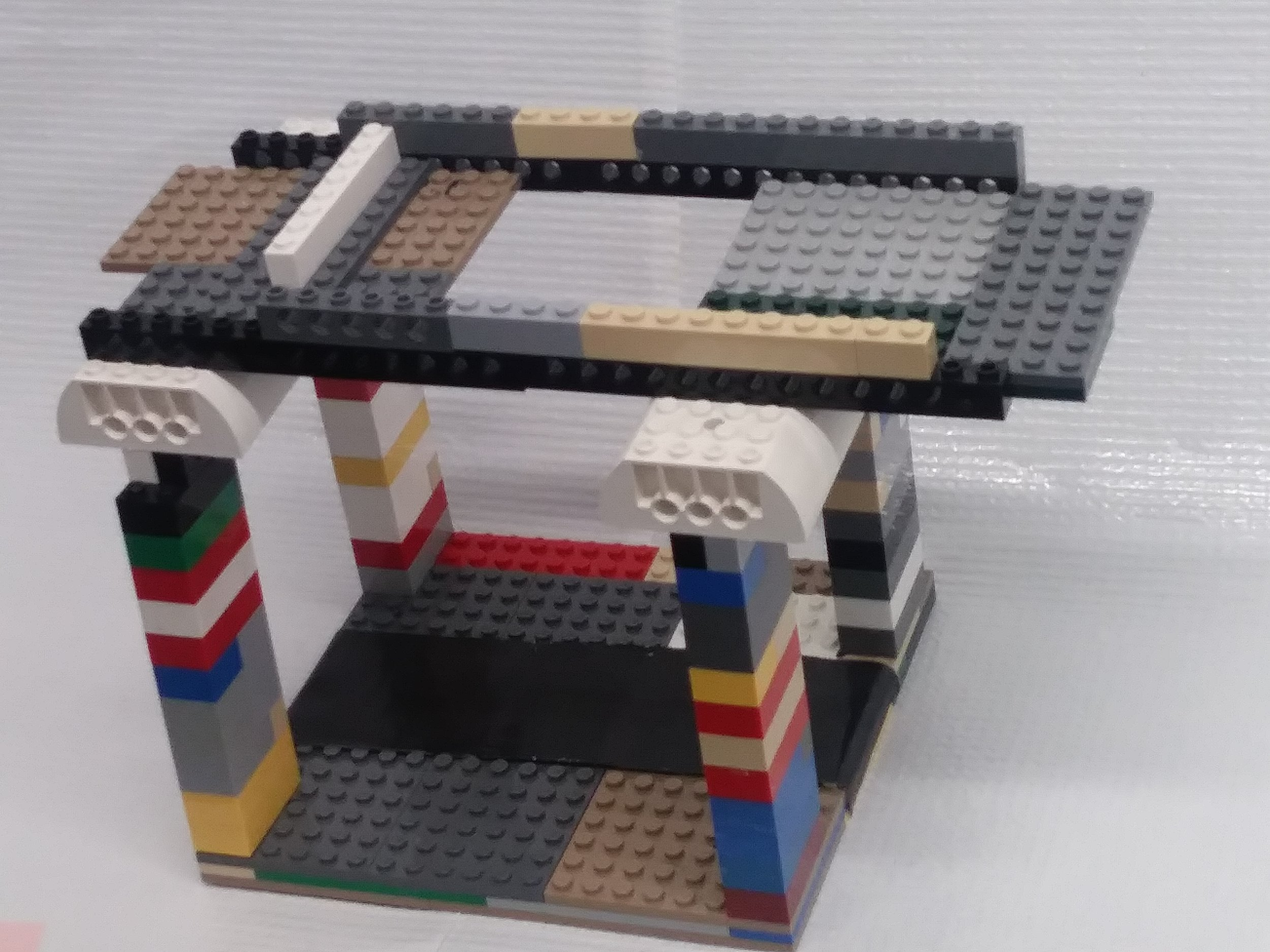LEGO frame used to house a mobile phone for image capture.