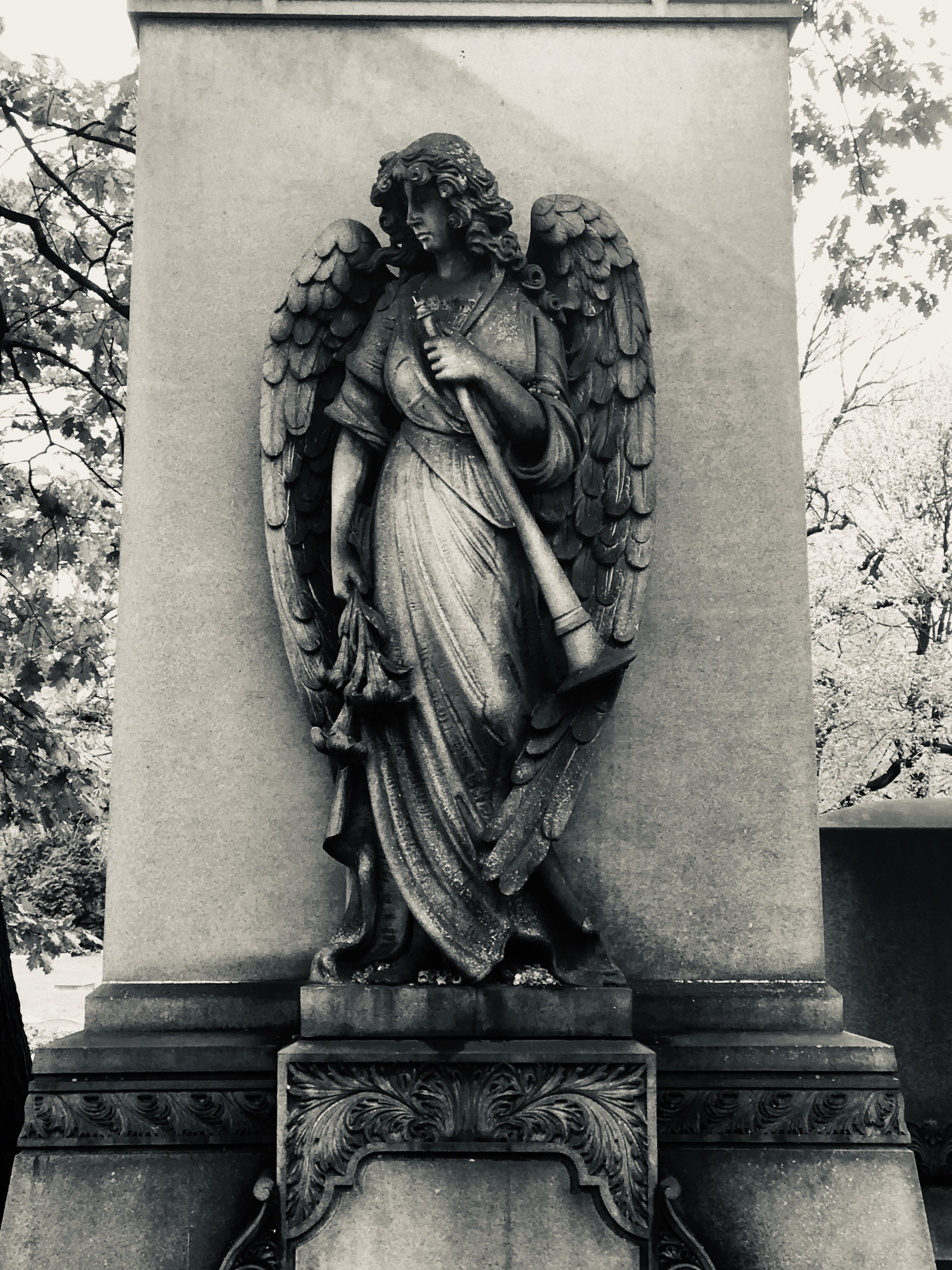 Picture taken within Lake View Cemetery in Cleveland, Ohio.