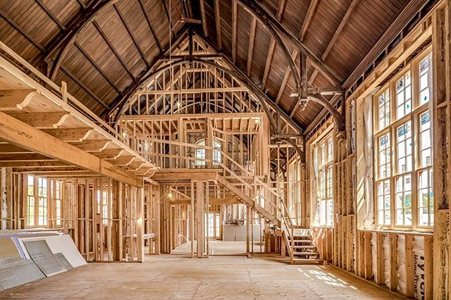 Construction in The Grand Hall.