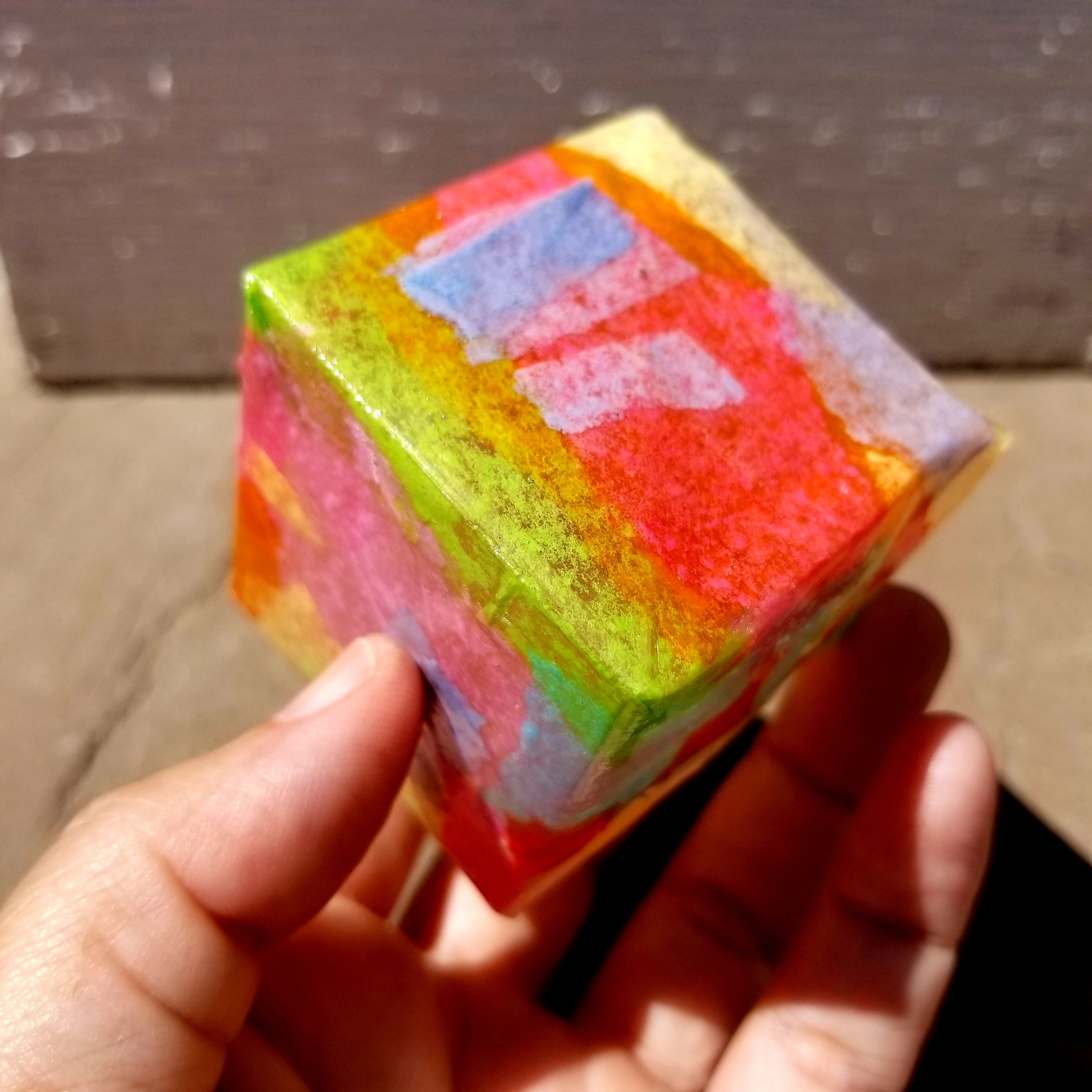 Don't pop this cube in your mouth please!