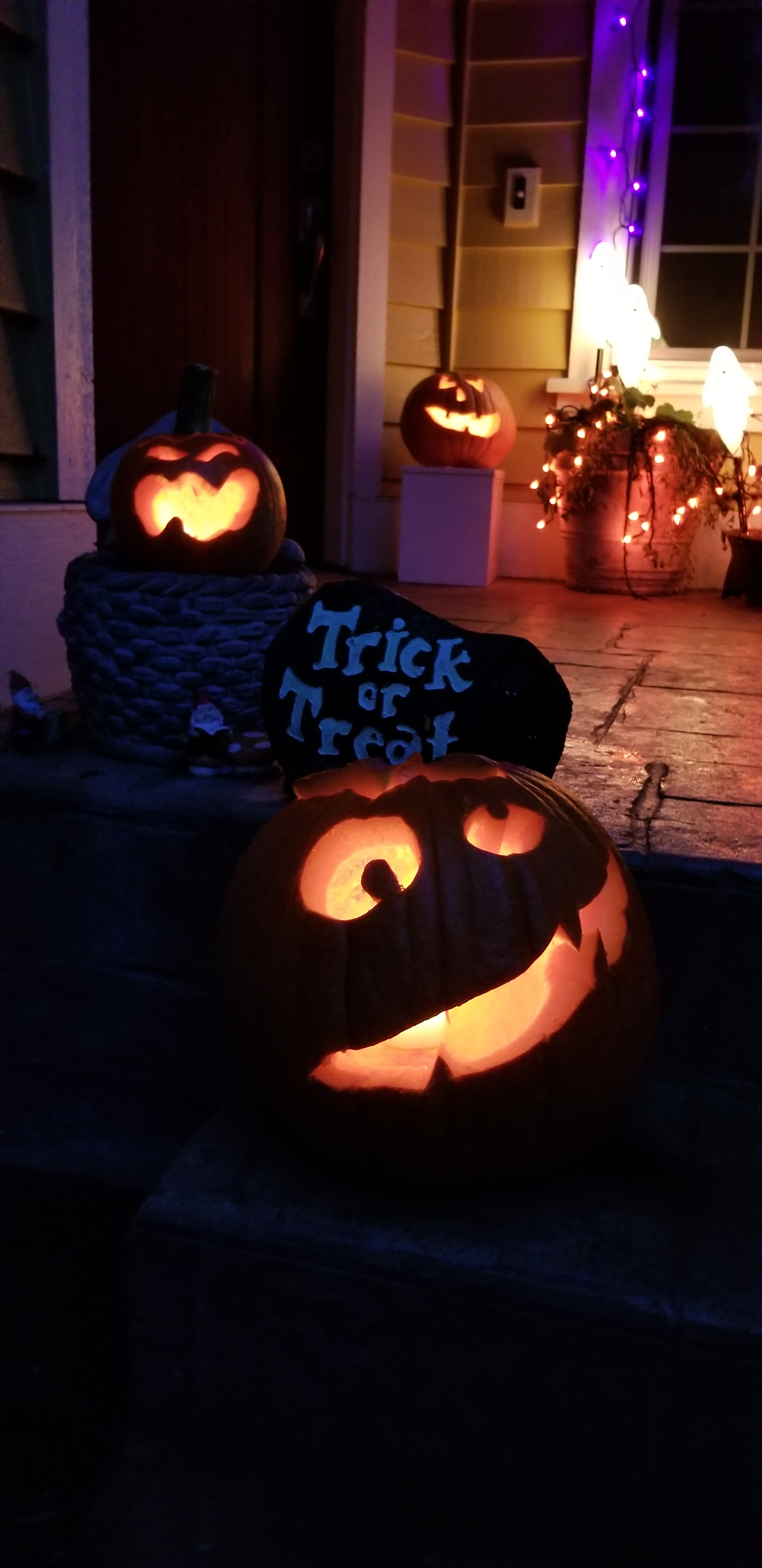 We take our jack-o'-lanterns very seriously at my house on Halloween.