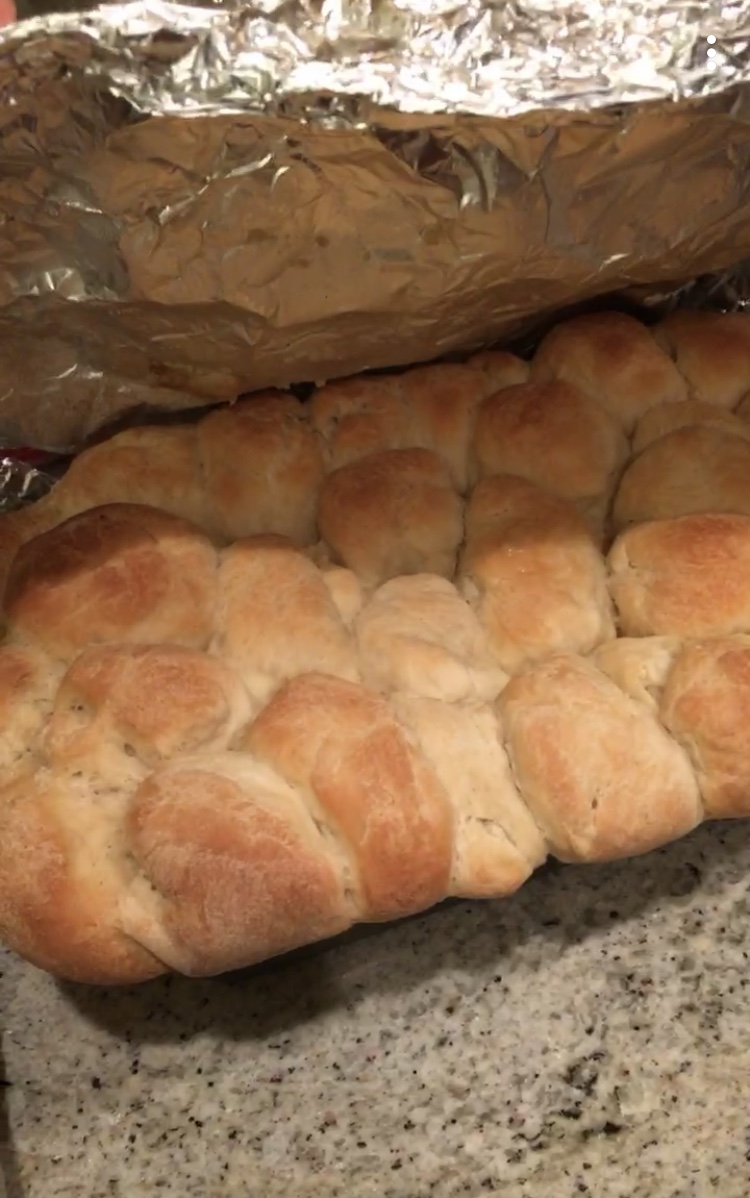 The famous Bubble Bread in all of it's risen glory!