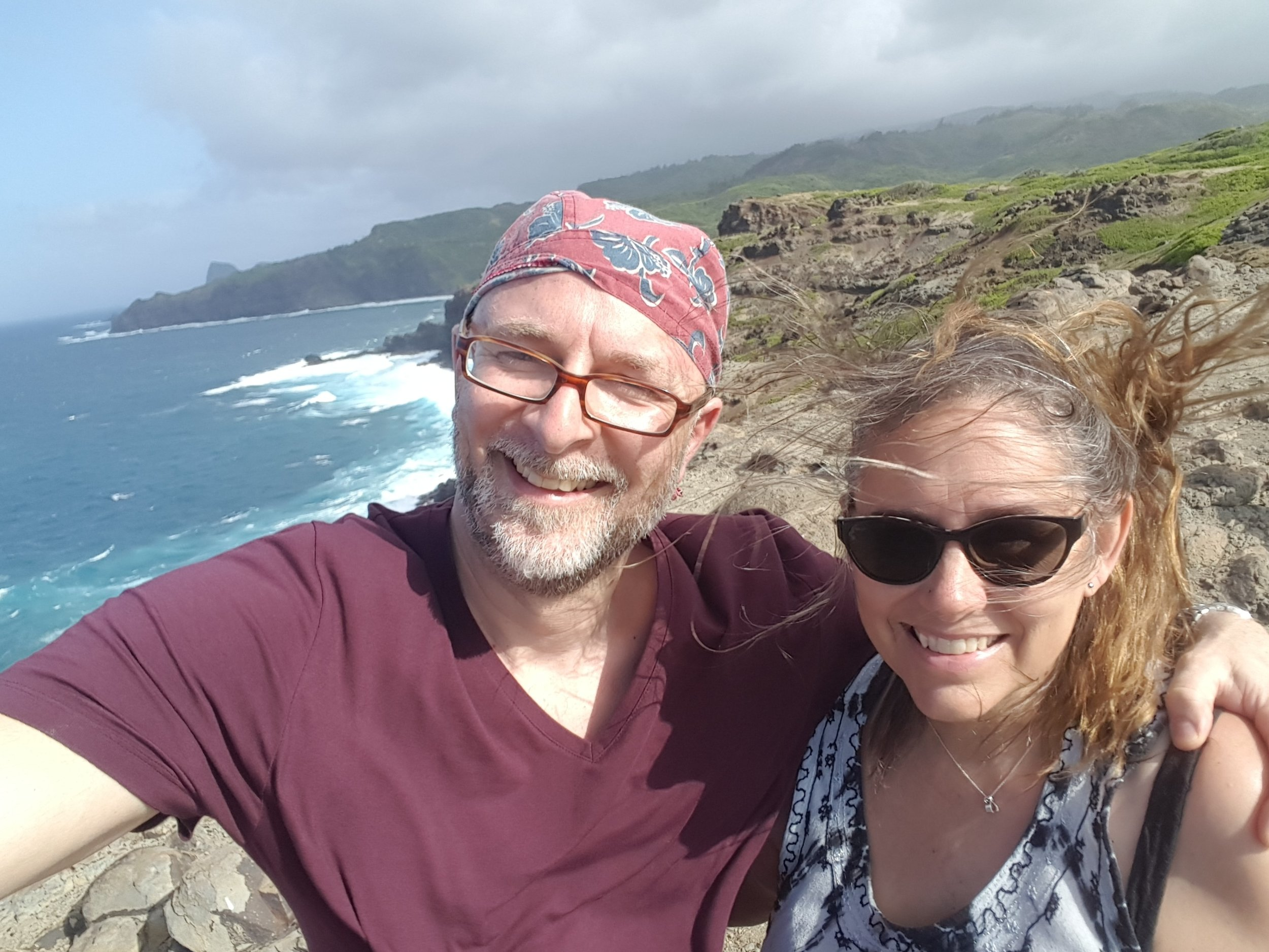 My guy, Chris, and yours truly, finding amazing new vistas in West Maui.