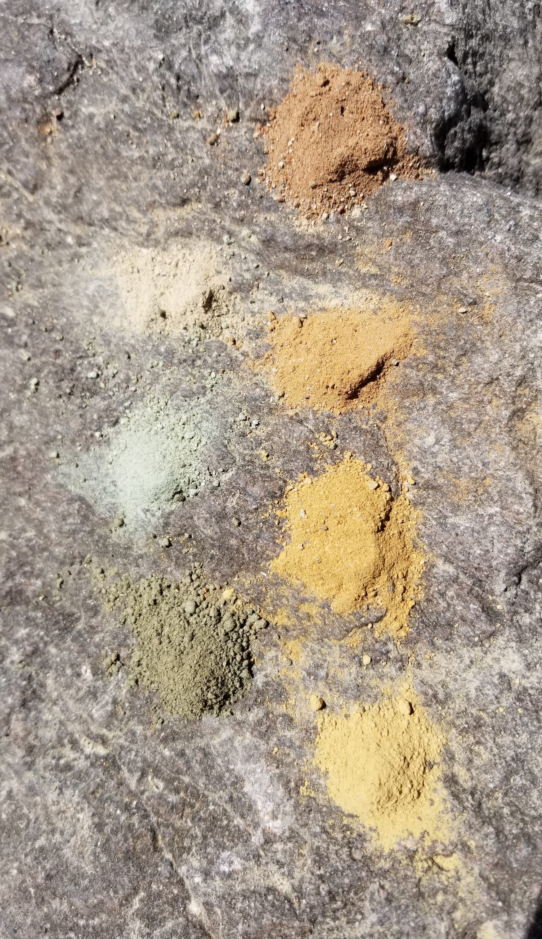 Mineral pigments I foraged and ground near the ancient sea bed of Paracas, Peru, June 2019.