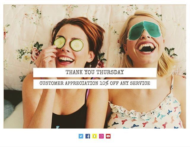 THANK YOU THURSDAY #customerappreciation 10% OFF ANY SERVICE! OFFER VALID THROUGH AUGUST