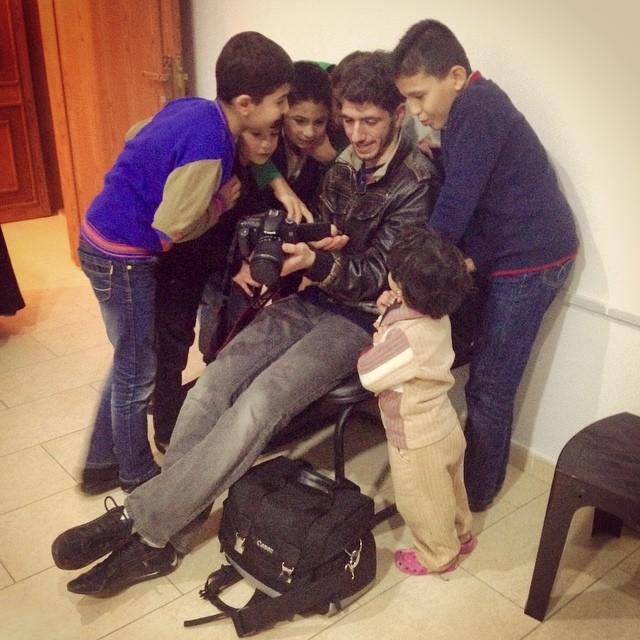 Akram Shibly during the filming of Waiting at the Door in Jordan. Photo by Thawab Shibly.