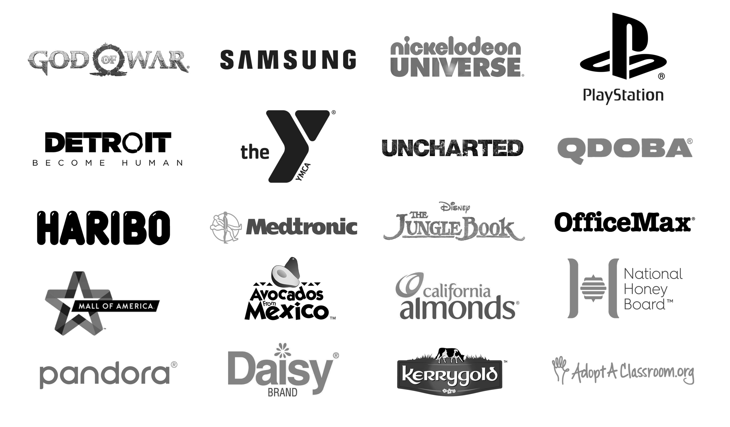 LOGOS - Some of the brands I've worked on.