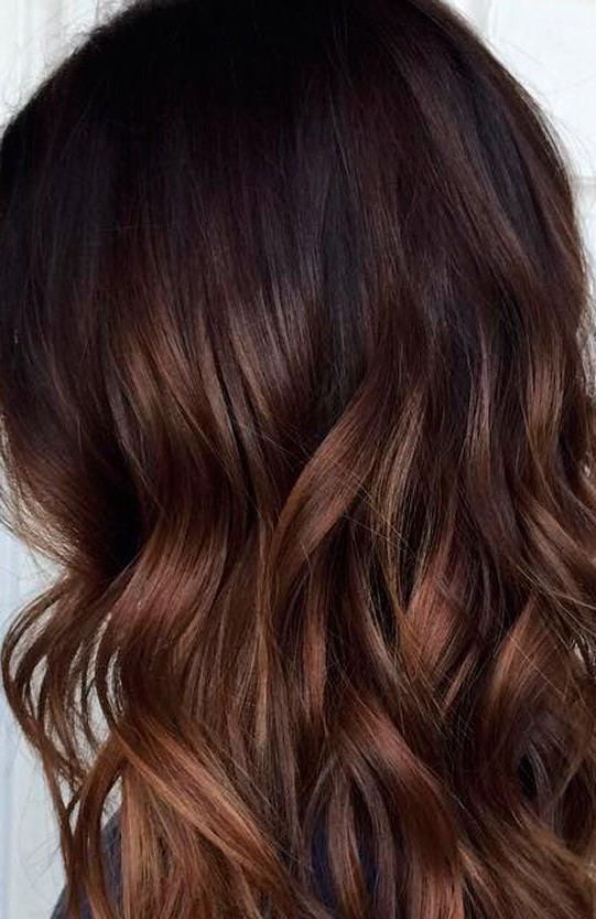 Copper Red Brunette Balayage - by Hair Babe Studio  www.hairbabestudio.com  Hair Color Asheville, NC