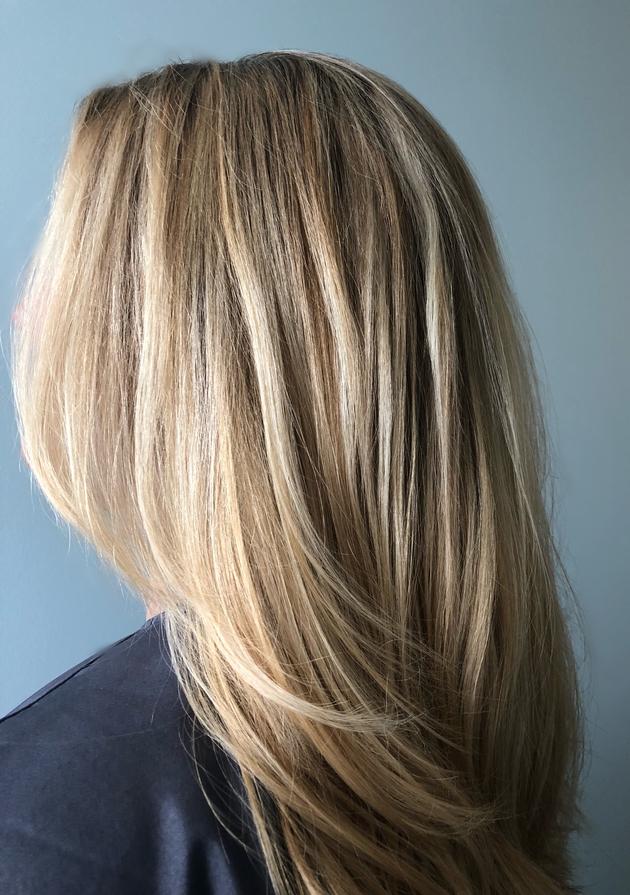 www.hairbabestudio.com  Asheville Hair  Honey Blonde Low lights - Blonde High lights