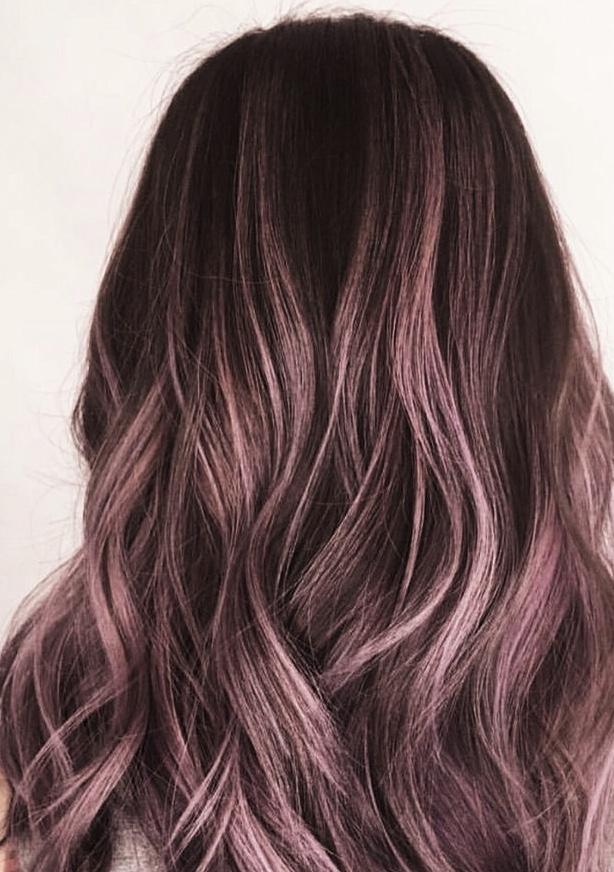 Lavender and Rose Balayage  Hairbabestudio.com  Top Hair Salon, Asheville NC