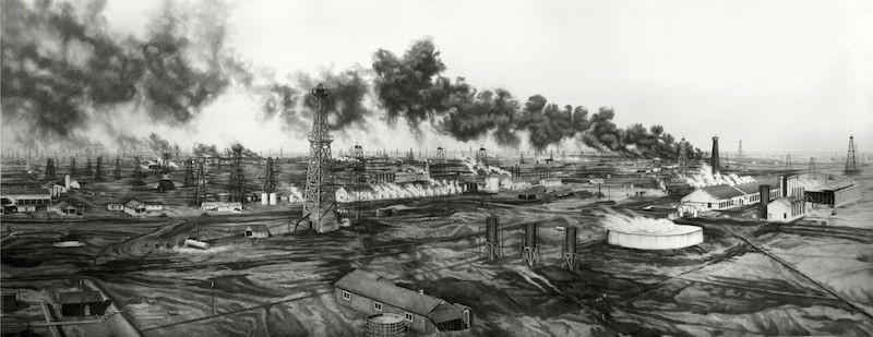 Tonkawa Oil Fields From The Top Of Derrick Galine 14-A