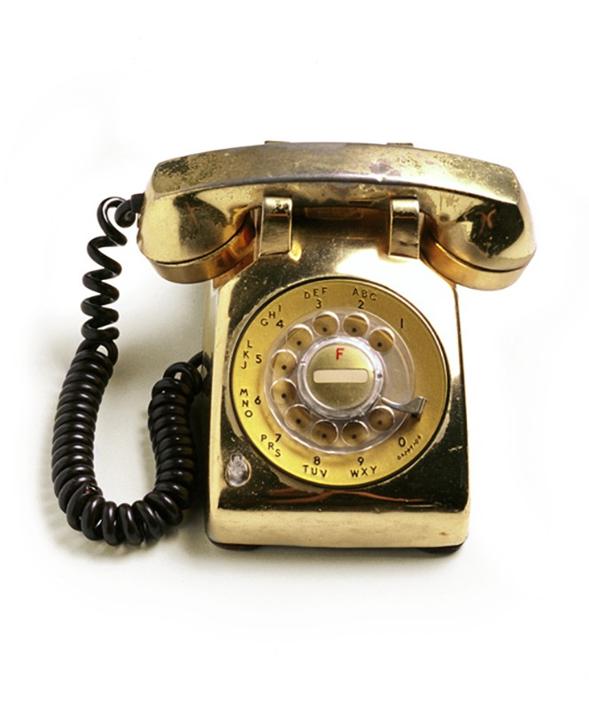 Gold Bedside Telephone One