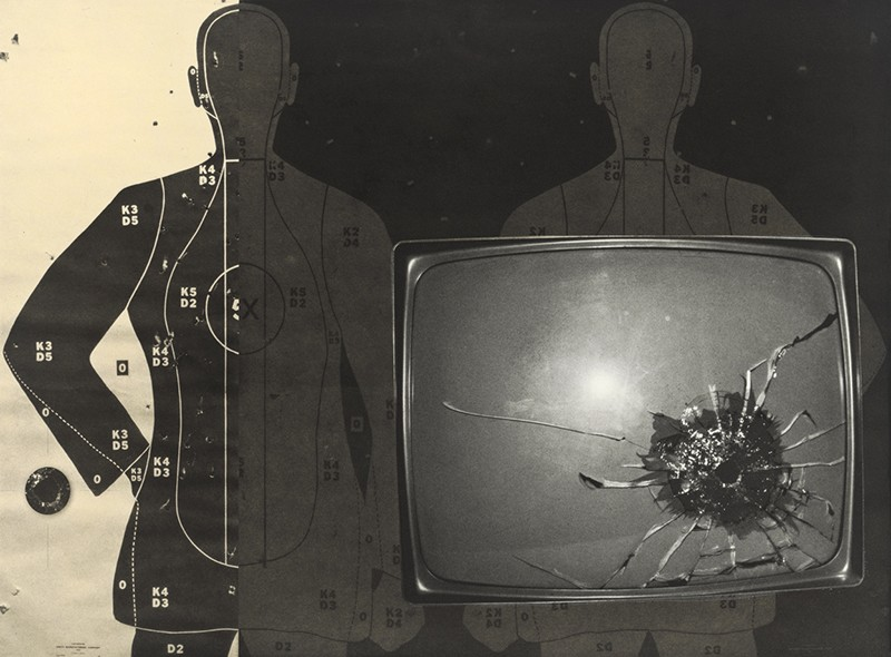 TV with Bullet Hole
