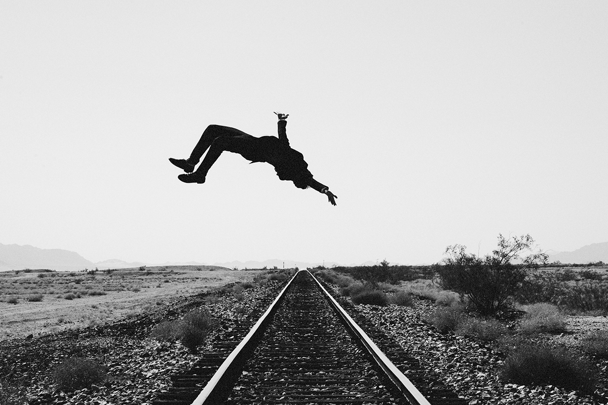 Train Tracks: Self Portrait From the Suspense Series