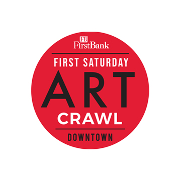 Join us every First Saturday of the month from 6-9 pm for the FirstBank First Saturday Art Crawl