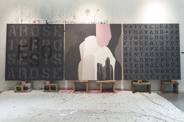 'ROSE/EROS' (Triptych), Jane Braddock's Studio