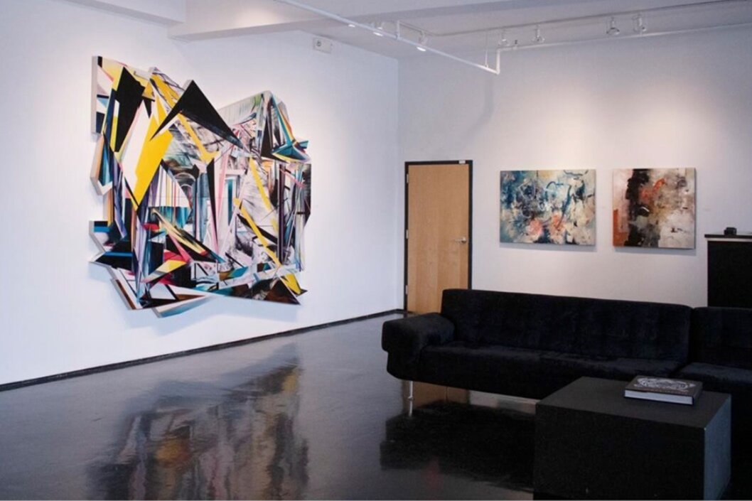 Left to Right: 'Aftermath,' Phouthavong, 'Untitled' and ' Suspirations of Order,' Jarrett