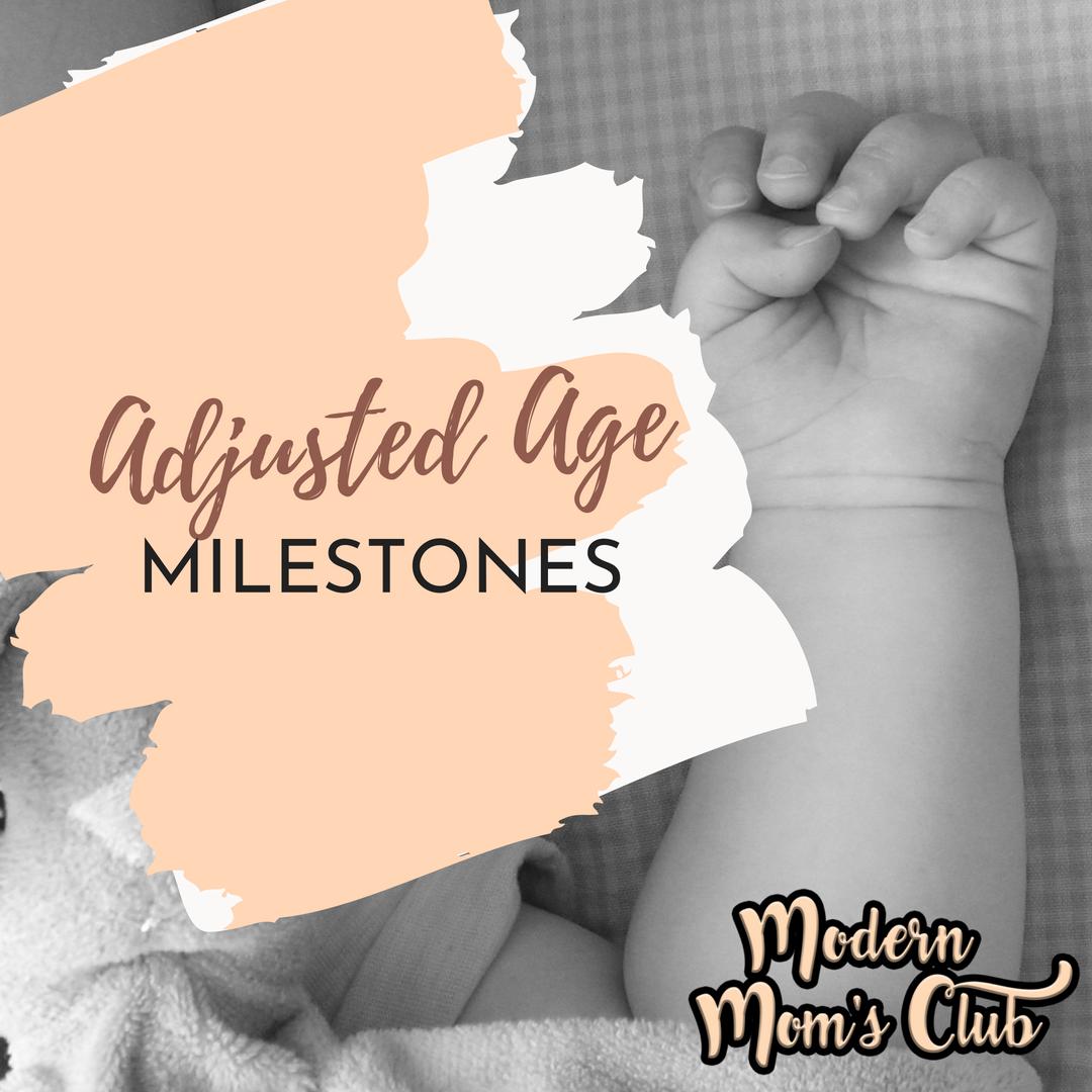 Adjusted age mile stones for premature babies #milestones #infant #prematurebaby #nicu
