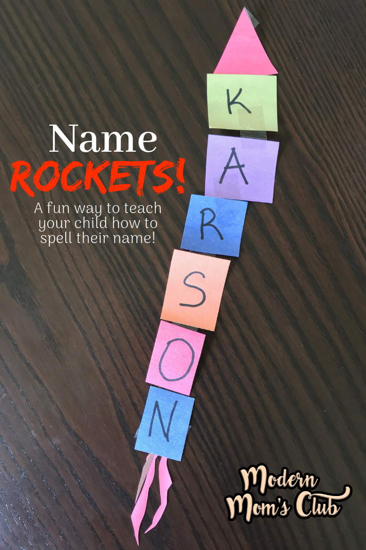 Learning How To Spell Their Name With A Name Rocket