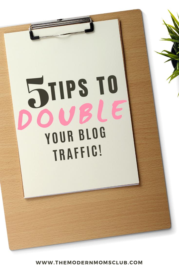 5 Blog Tips to grow your blog traffic #blogging #bloggingtips #blogerincome