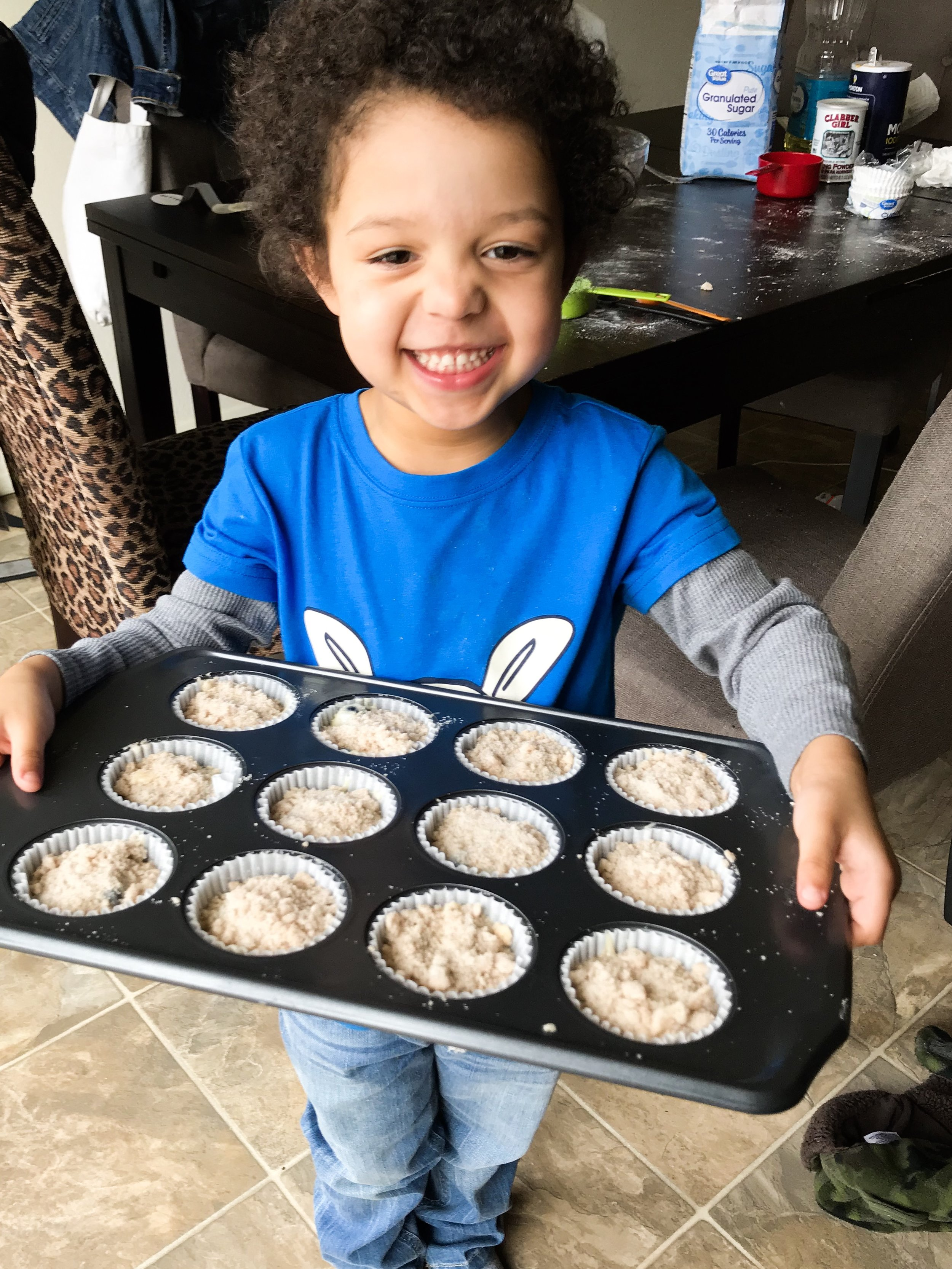 Karson's Super Delicious Blueberry Muffins