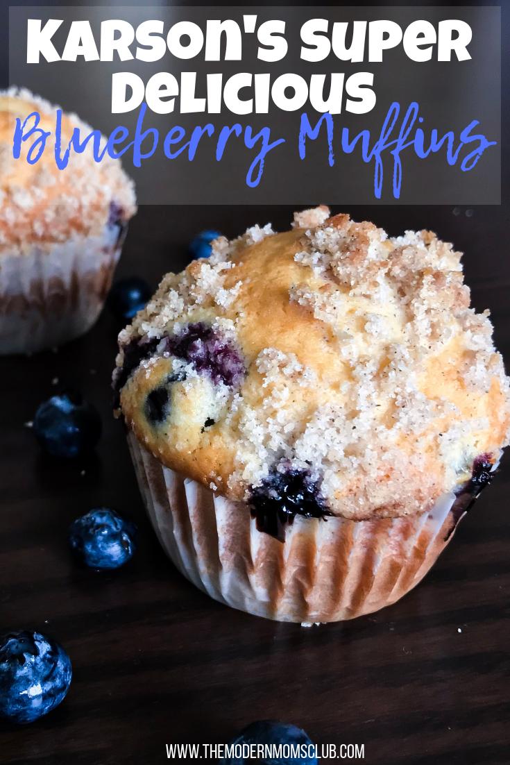 Karson's Super Delicious Blueberry Muffins #muffins #blueberrymuffin #baking #bakedgoods