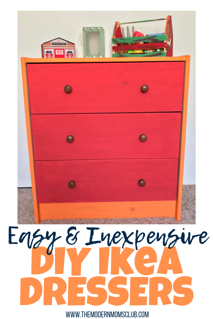 Easy and Inexpensive DIY Ikea dressers #DIY #DIYFURNITURE #DIYDRESSER